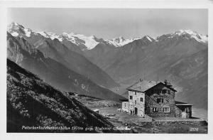 Patscherkofelschutzhaus geg. Stubaier Gletscher Cabin Mountains Panorama