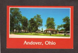 OH View downtown Andover Ohio Postcard Carte Postale PC