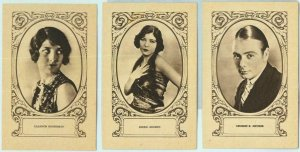 95688a - Lot of 5 VINTAGE ADVERTISING CARDS - CINEMA, Actors: R Adoree, V Banky