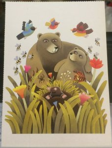 Postcard Book Illustration Reg Cartwright Something New for bear etc - unposted