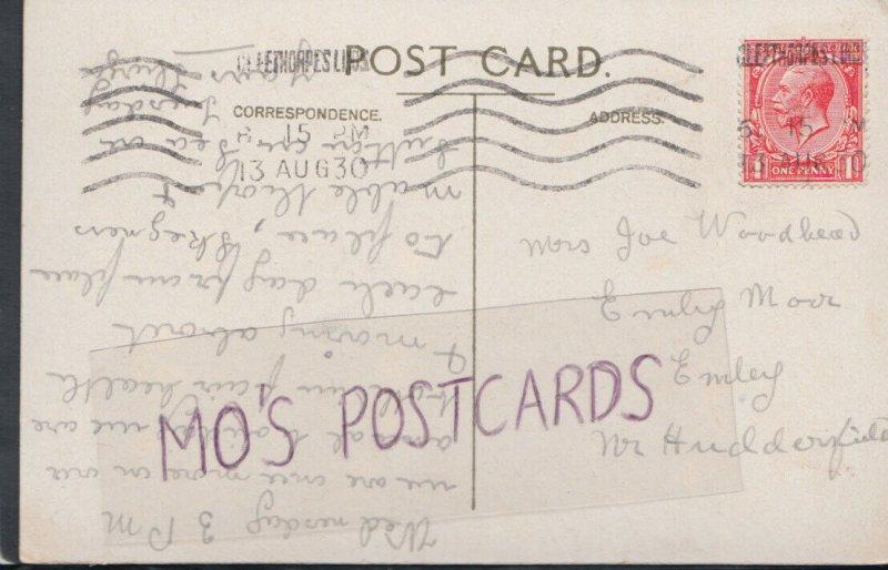 Family History Postcard - Woodhead - Emley Moor, Emley, Nr Huddersfield RF2481