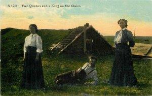 C-1910 Great Plains Homesteading Sod House Morris Postcard 20-4214