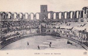 ARLES, Bouches-du-Rhone, France, 1900-1910s; Courses De Taureaux