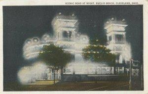 CLEVELAND, Ohio, 1925 ; Euclid Amusement Park , Scenic Road at night