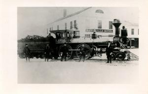 CT - Dayville circa 1910. Norwich & Worcester Railroad Train and Daysville Ho...