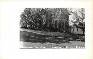 LPSS62 Virginia City Montana Madison Co. Court House Postcard RPPC