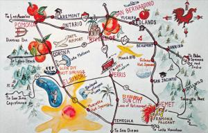CALIFORNIA, 1940-1960's; Animated Map of California