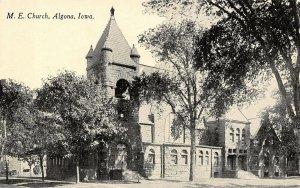 Algona IA Half-Moon, Open Belltower~United Methodist Episcopal c1910 PC