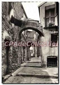 Old Postcard The French Riviera Old Menton old Rue du Chateau