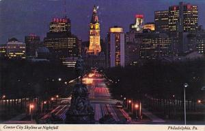 Center City Skyline At Nightfall Philadelphia Pennsylvania