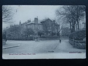 Manchaster Cheshire SALE Broad Road & Priory Road c1905 Postcard by Birkenhead