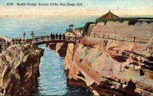 California San Diego Sunset Cliffs Rustic Bridge 1917
