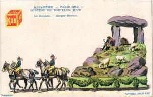 CPA PARIS Mi-Careme 1913 - Cortege du Bouillon Kub - Berger Breton (300286)
