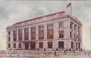 The Evening Press Building and American Flag, Grand Rapids, Michigan, 1907
