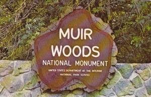 California Mill Valley Muir Woods National Monument Main Auto Entrance Sign
