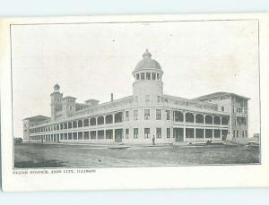 Pre-1907 BUILDING SCENE Zion - Near Waukegan & Evanston & Chicago IL H7419