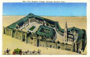 IL - Chicago. 1933 World's Fair, Century of Progress. The English Village