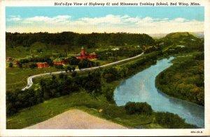 Minnesota Red Wing Birds Eye View Of Highway 61 and Minnesota Training School...
