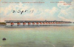 br105852 victoria jubilee bridge grand trunk railway system montreal canada
