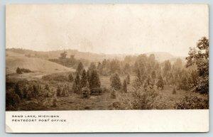 Onsted-Sand Lake Michigan~Pentecost Road? Post Office~c1910 Sepia RPPC Postcard