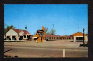 NE View Western Motel KEARNEY NEBRASKA POSTCARD PC