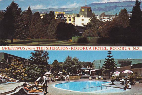 New Zealand Rotorua Greetings From The Sheraton-Rotorua Hotel