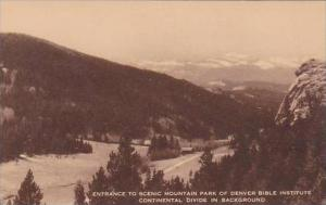 Colorado Entrance To Scenic Mountain Park Of Denver Bible Institute Continent...