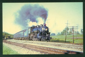 Chicago and Northwestern ES Class No 608 Passenger Train C&NW Steam Postcard