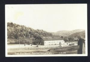 RPPC RENFRO VALLEY KENTUCKY THE OLD BARN VINTAGE REAL PHOTO POSTCARD KY
