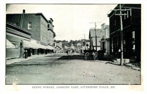 Maine  Livermore , Depot Street looking East