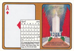 1992 Playing Card Calendar Series April