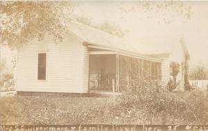 Sargent Nebraska?~Mrs S. E. Livermore & Family Home~Screened Porch~c1910 RPPC