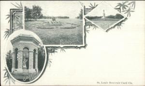 St. Louis MO Multi-View Forest Park c1900 Souvenir Private Mailing Card