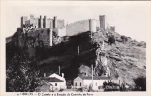 Portugal Obidos O Castelo e a Estacao do Caminho de Ferro Real Photo