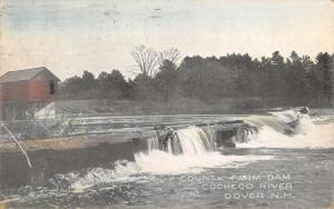 Dover New Hampshire Cocheco River Country Farm Dam Antique Postcard J67770