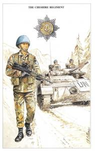 Postcard The British Army Series No.37 The Cheshire Regiment by Geoff White