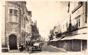 Horsham England West Street Scene Real Photo Antique Postcard K44533