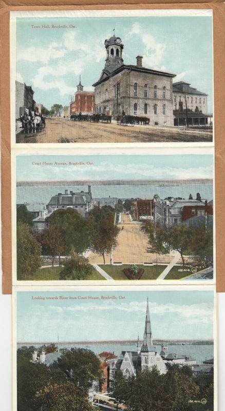 BROCKVILLE , Ontario , Canada , PU-1916; Greetings, Souvenir Folder Postcard