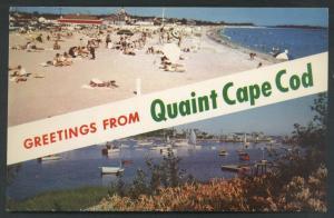 Quaint Cape Cod Craigville Beach Wychmere Harbor Postcard