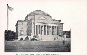 Columbia College Library, New York City, N.Y., Early Postcard, Unused