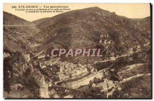 Old Postcard Gorges du Tarn Ste Enimie Panoramic