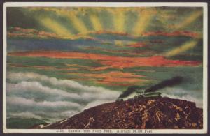Sunrise on Pikes Peak Postcard