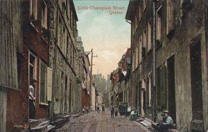 Little Champlain Street, Quebec, Canada, 1900-1910s