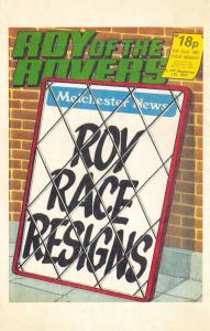 Postcard Roy of The Rovers Melchester Roy Race Comic Strip Cover from 1983