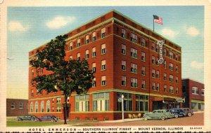 Illinois Mount Vernon Hotel Emmerson 1940 Curteich