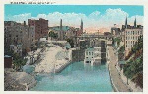 LOCKPORT , New York , 1900-10s ; Barge Canal Locks