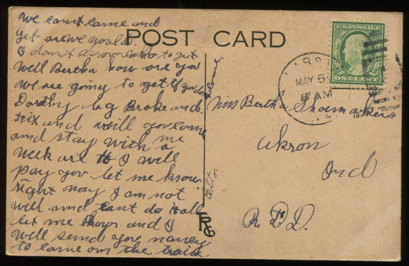 Fat Woman. 1909 postcard with body-shaming verse