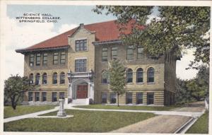 SPRINGFIELD, Ohio, PU-1916; Science Hall, Wittenberg College