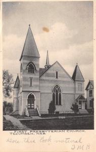 Tecumseh NE~1st Presbyterian Church~Layered Facade~Towers & Turrets~Steeple 1910