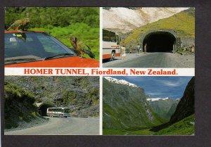 NZ Homer Tunnel Fiordland New Zealand Postcard Bus Cleddau Valley
